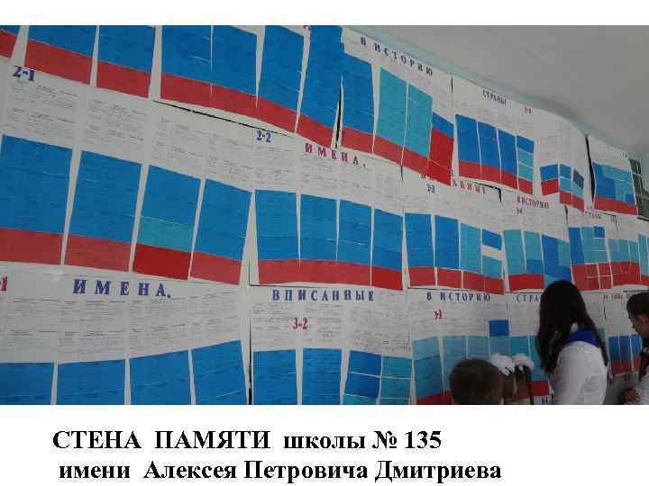 СТЕНА ПАМЯТИ школы № 135 имени Алексея Петровича Дмитриева