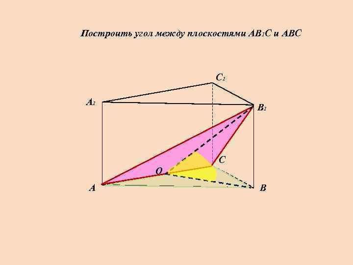 Построить угол между плоскостями АВ 1 С и АВС     С