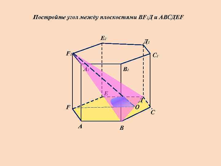 Постройте угол между плоскостями ВF 1 Д и АВСДЕF