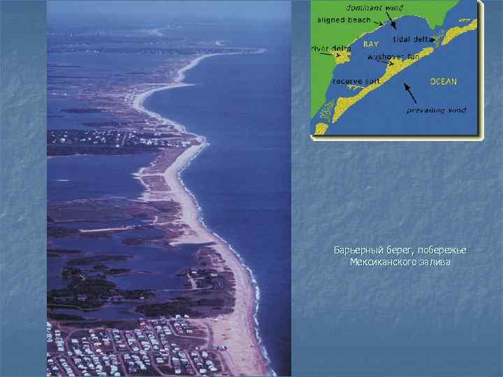 Барьерный берег, побережье  Мексиканского залива
