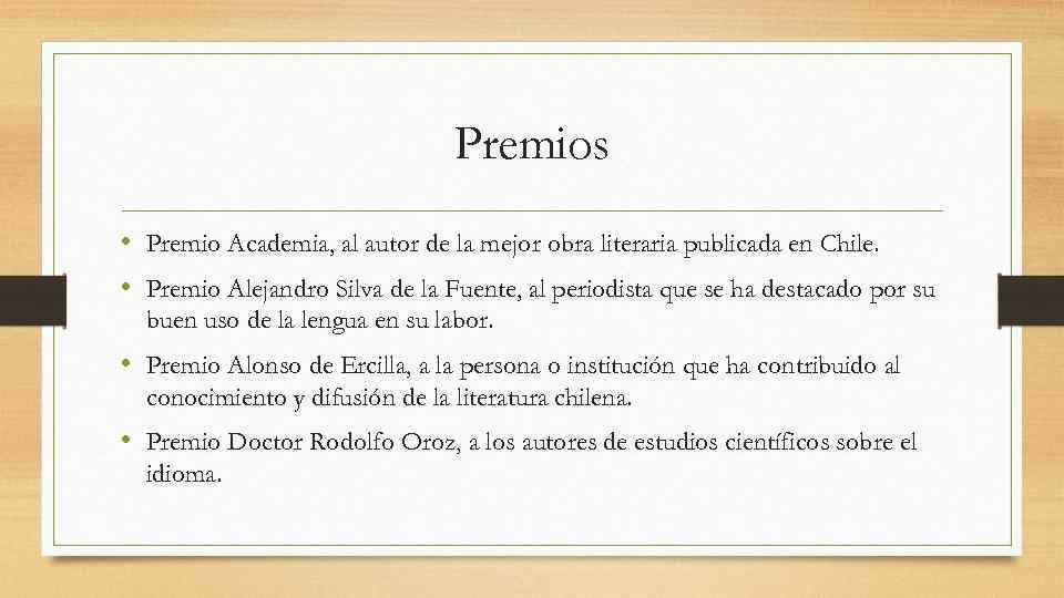 Premios • Premio Academia, al autor de