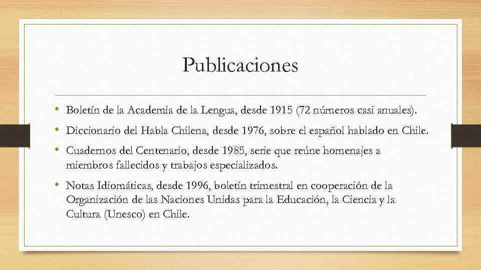Publicaciones • Boletín de la Academia de la