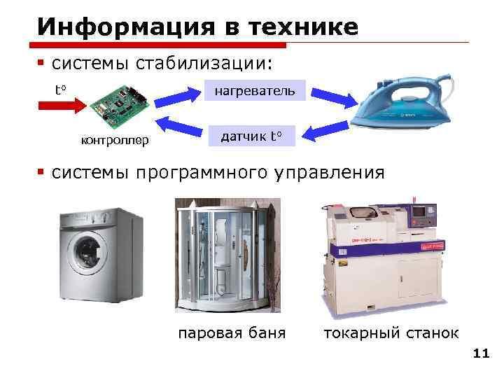 Информация в технике § системы стабилизации:  t°    нагреватель