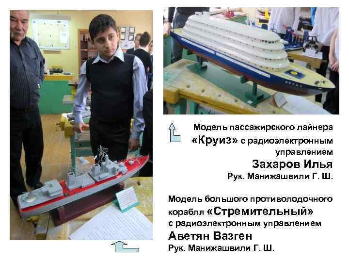 Модель пассажирского лайнера «Круиз» с радиоэлектронным     управлением