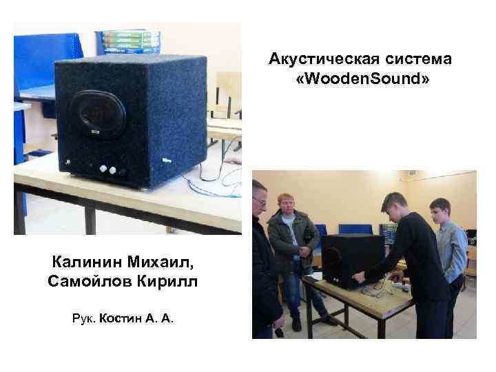 Акустическая система      «Wooden. Sound»