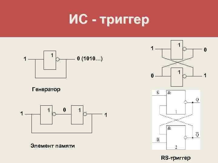 ИС - триггер     1
