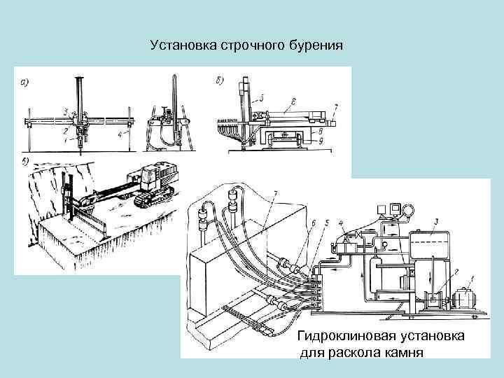 Установка строчного бурения     Гидроклиновая установка     для