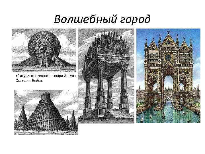 Волшебный город «Ритуальное здание – шар» Артура Скижали-Вейса.