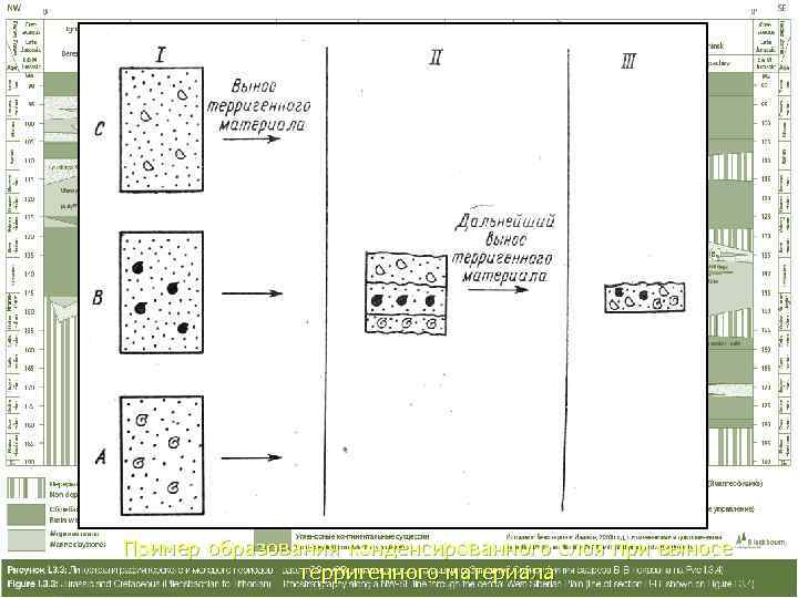 Пример образования конденсированного слоя при выносе   терригенного материала
