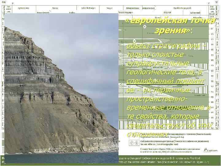 «европейская точка  зрения» : объект стратиграфии – только слоистые супракрустальные геологические тела,