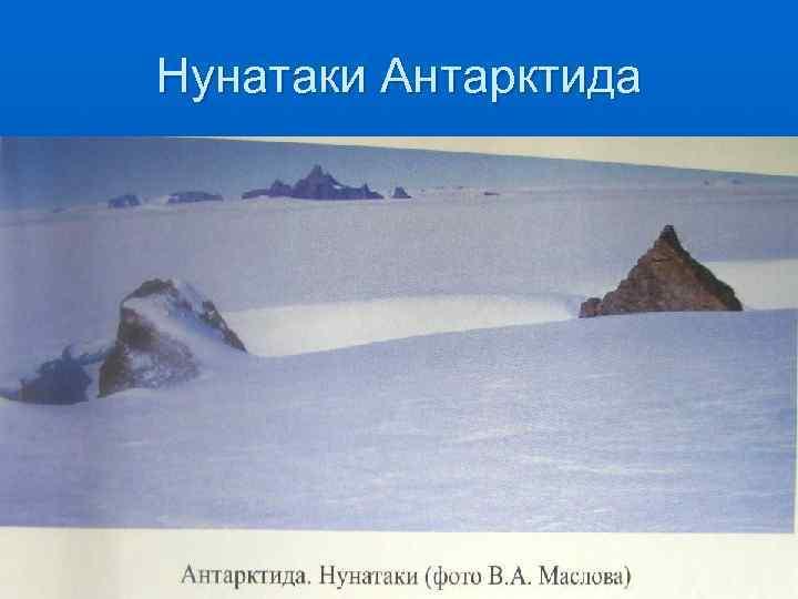 Нунатаки Антарктида