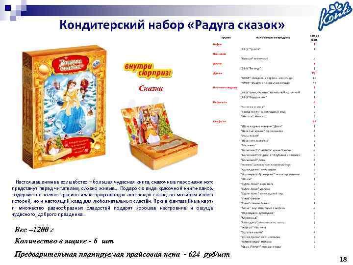 Кондитерский набор «Радуга сказок»     Сказка Настоящее зимнее