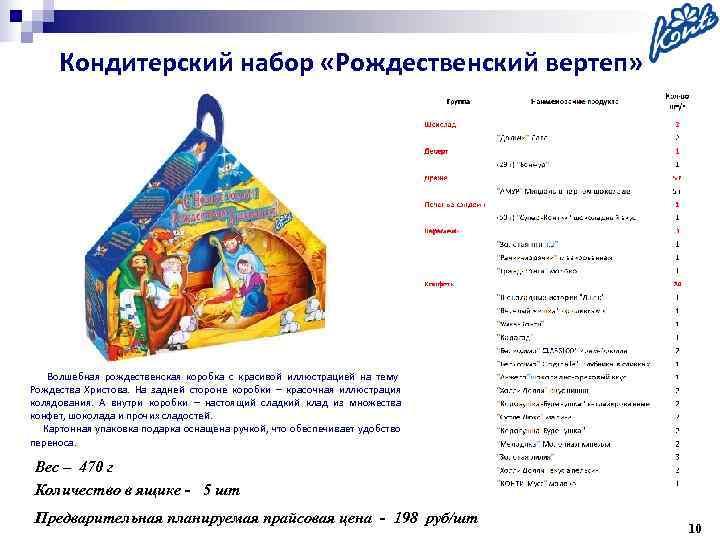 Кондитерский набор «Рождественский вертеп»   Волшебная рождественская коробка с красивой иллюстрацией на