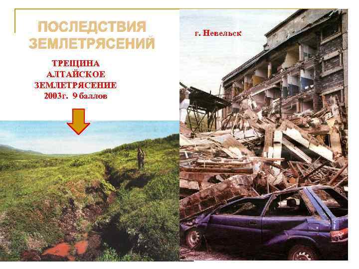 ПОСЛЕДСТВИЯ  г. Невельск ЗЕМЛЕТРЯСЕНИЙ ТРЕЩИНА  АЛТАЙСКОЕ ЗЕМЛЕТРЯСЕНИЕ  2003 г. 9