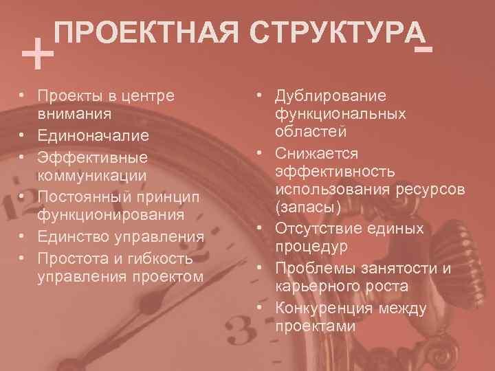 +  ПРОЕКТНАЯ СТРУКТУРА       - • Проекты в