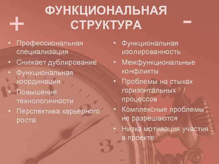 -   ФУНКЦИОНАЛЬНАЯ +  СТРУКТУРА • Профессиональная
