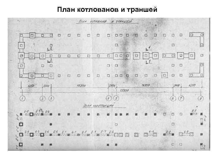 План котлованов и траншей