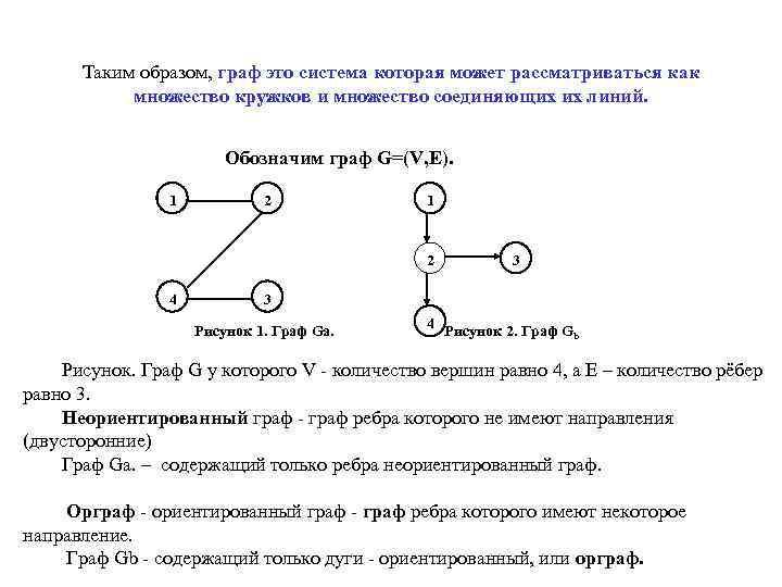 Таким образом, граф это система которая может рассматриваться как