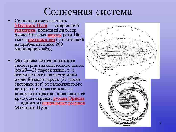 Солнечная система • Солнечная система часть  Млечного Пути —
