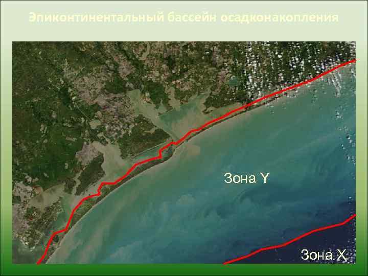 Эпиконтинентальный бассейн осадконакопления      Зона Y