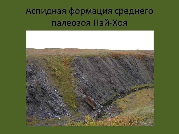 Аспидная формация среднего палеозоя Пай-Хоя