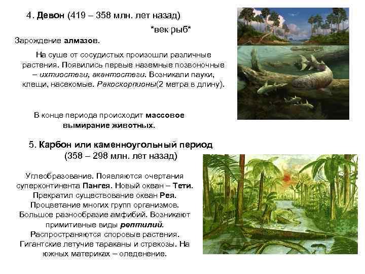 4. Девон (419 – 358 млн. лет назад)