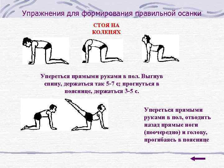 Упражнения для формирования правильной осанки     СТОЯ НА