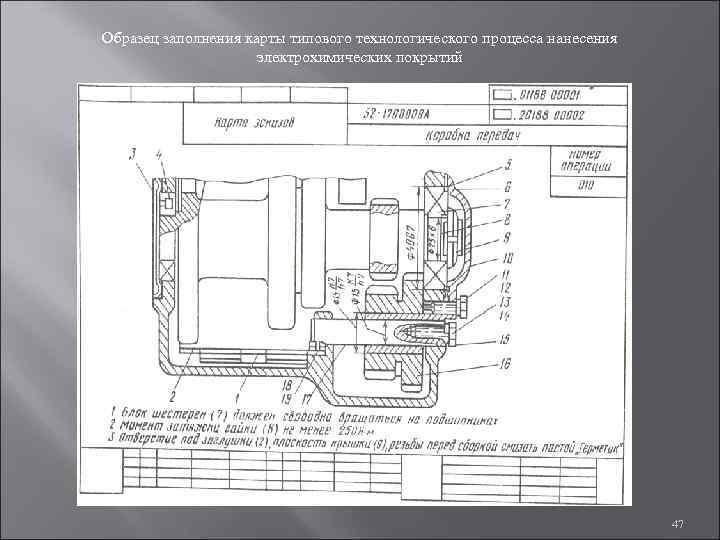 Образец заполнения карты типового технологического процесса нанесения     электрохимических покрытий