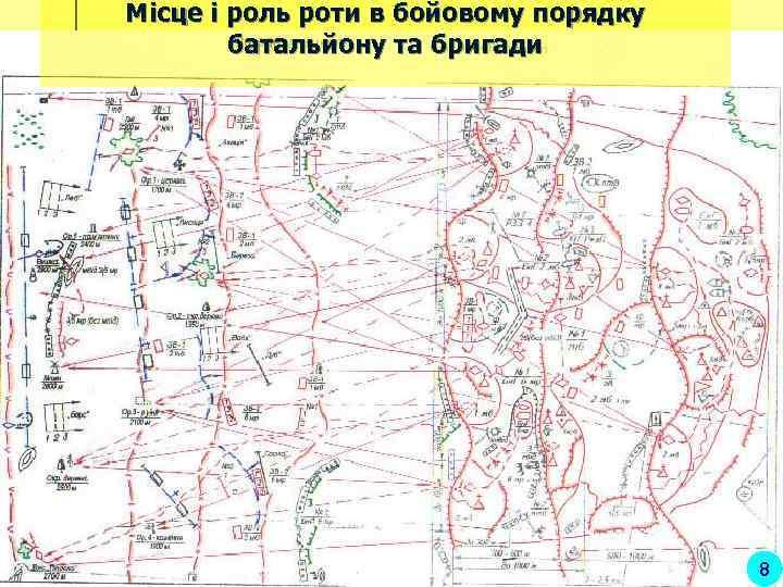 Місце і роль роти в бойовому порядку   батальйону та бригади