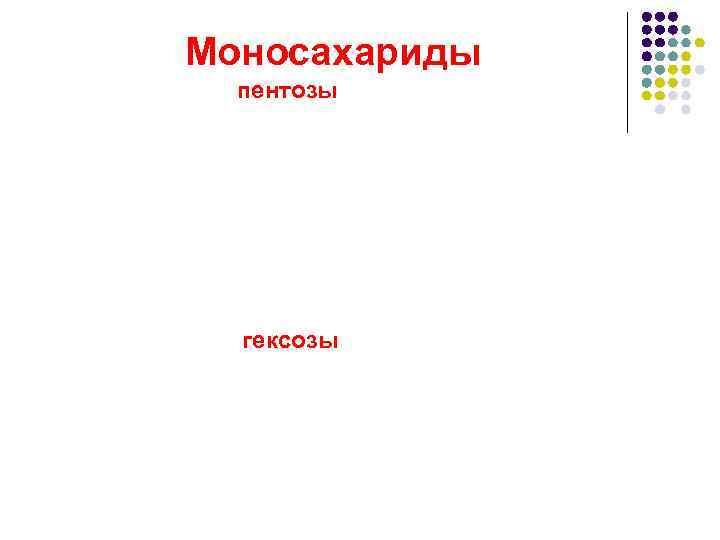 Моносахариды  пентозы  гексозы