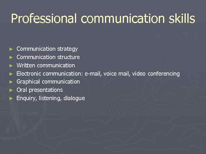 Professional communication skills ►  Communication strategy ►  Communication structure ►  Written