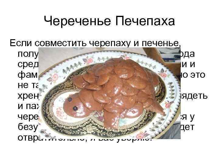 Череченье Печепаха Если совместить черепаху и печенье,  получится что-то типа названия блюда