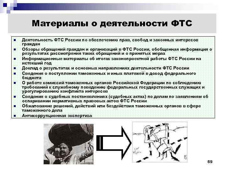Материалы о деятельности ФТС n  Деятельность ФТС России по обеспечению прав,