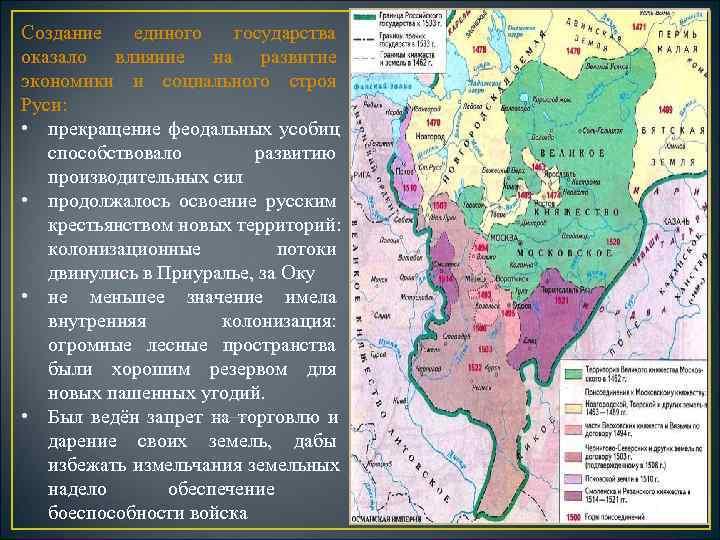 Создание  единого  государства оказало влияние на развитие экономики и социального строя Руси: