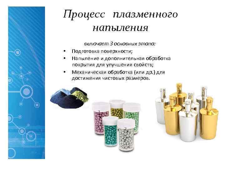 Процесс плазменного напыления   включает 3 основных этапа:  •  Подготовка поверхности;