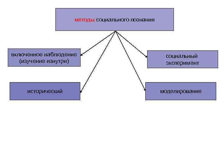 методы социального познания включенное наблюдение     социальный