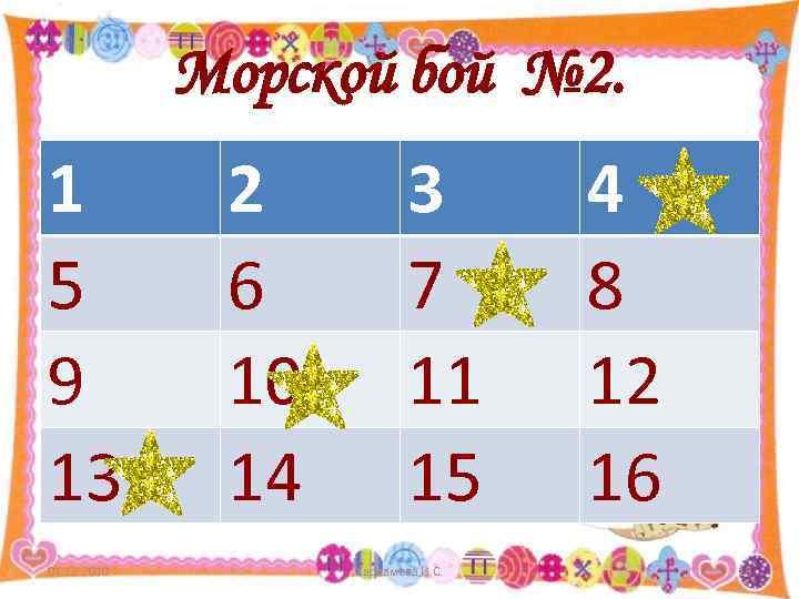 Морской бой № 2. 1   2  3