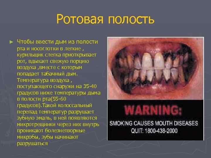 Ротовая полость ►  Чтобы ввести дым из полости рта и