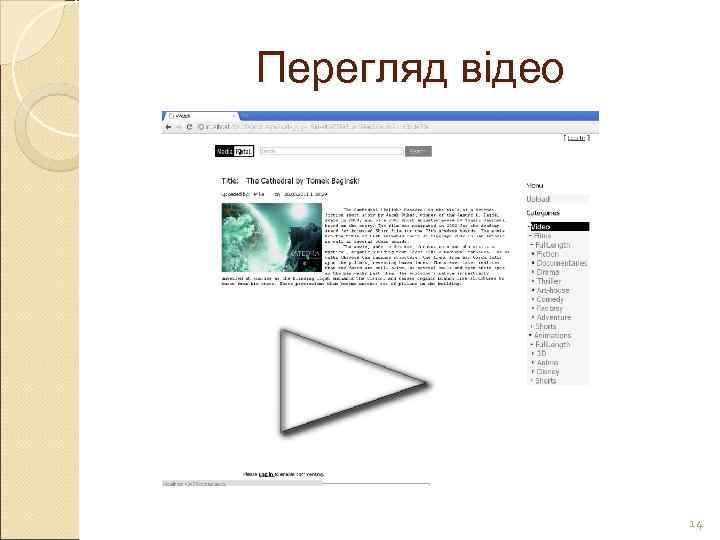 Перегляд відео     14