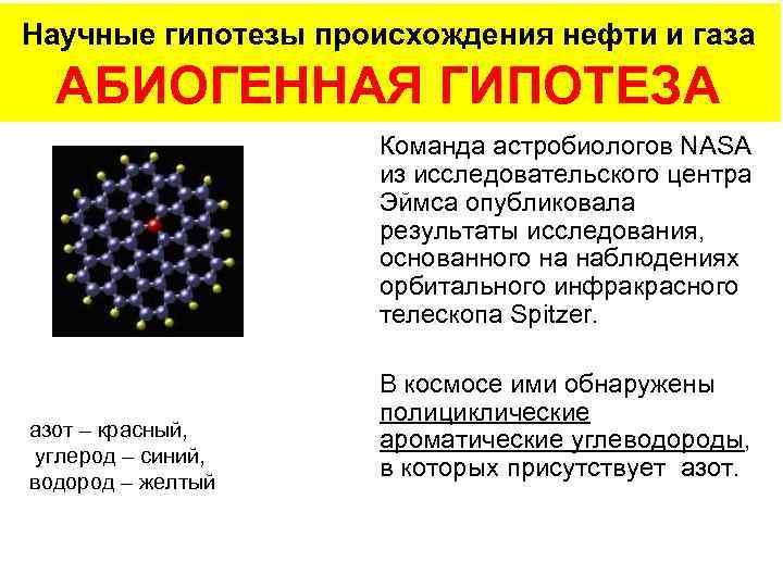 Научные гипотезы происхождения нефти и газа  АБИОГЕННАЯ ГИПОТЕЗА     Команда