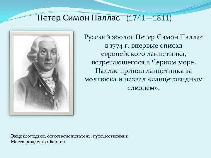 Петер Симон Паллас  (1741— 1811)