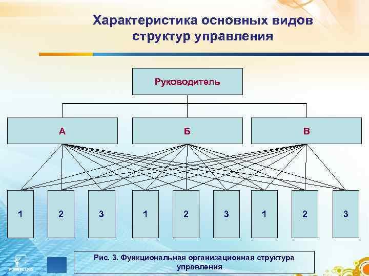 Характеристика основных видов   структур управления     Руководитель
