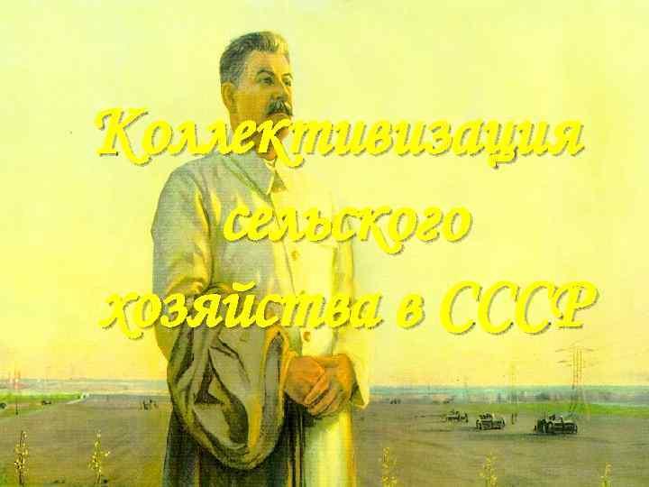 Коллективизация сельского хозяйства в СССР