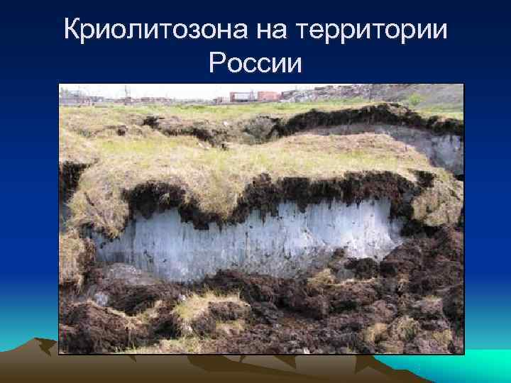 Криолитозона на территории   России