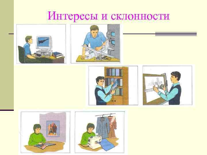 профессиональные интересы склонности способности презентация