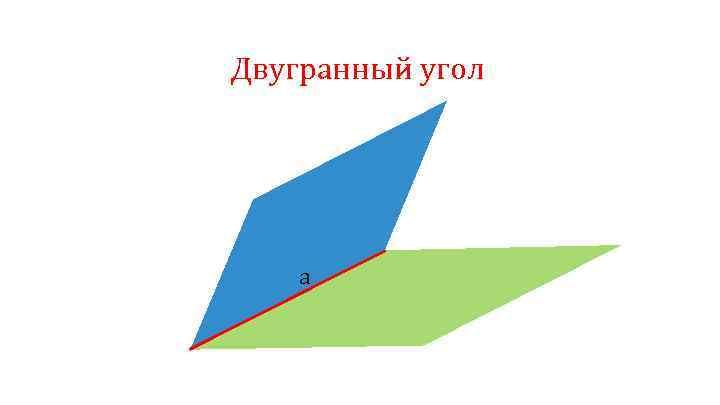 Двугранный угол a