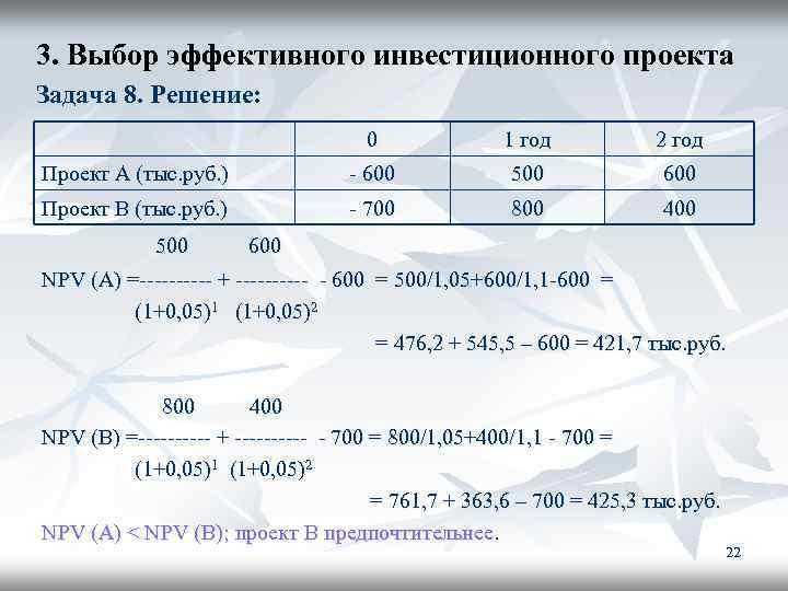 Решение задач про инвестиции экономико математические методы задачи с решением