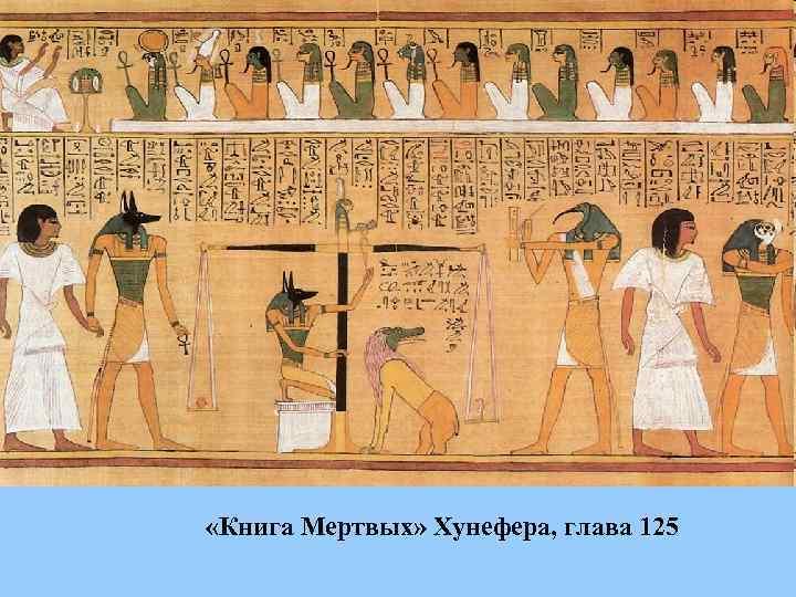 «Книга Мертвых» Хунефера, глава 125