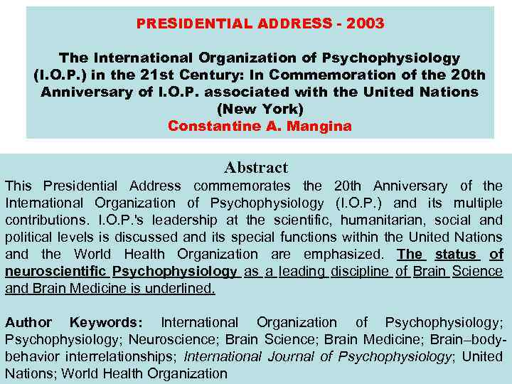 presidential adress Volume 108 presidential address september 2008 presidential address the journal of the southern african institute of mining and metallurgy.