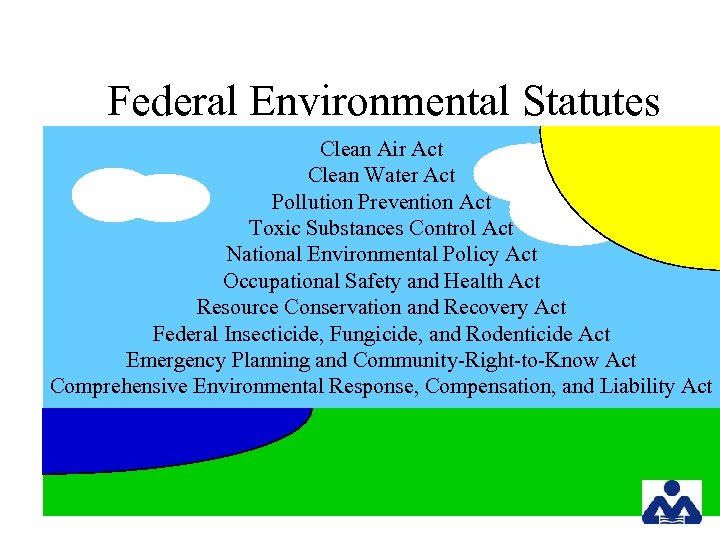 Federal Environmental Statutes Clean Air Act Clean Water Act Pollution Prevention Act Toxic Substances